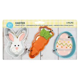 Easter Cookie Cutters, 3pc Color Set, rm