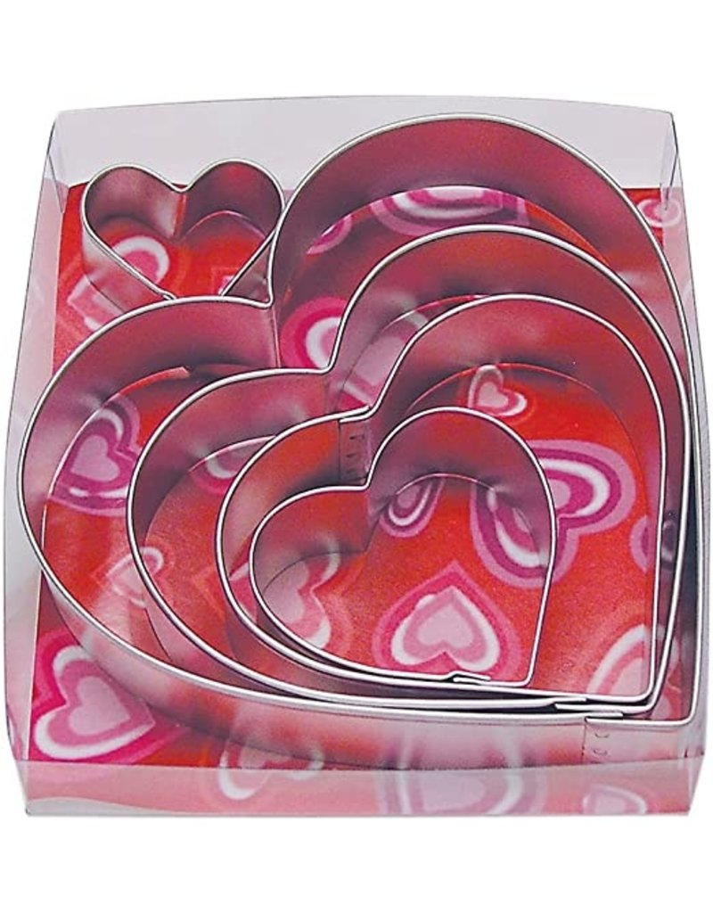 Heart Cookie Cutters, 5pc Set, rm