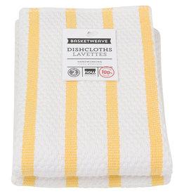 Now Designs Basketweave Kitchen Towel, Lemon