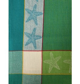 Primitive Artisan Starfish Towel, Citrus Waffle