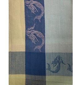 Primitive Artisan Mermaid Towel, Marine Waffle