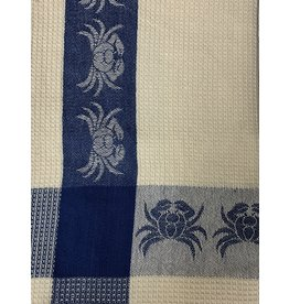 Crab Towel, Blue Waffle