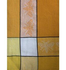 Primitive Artisan Honey Bee Towel, Corn Waffle disc