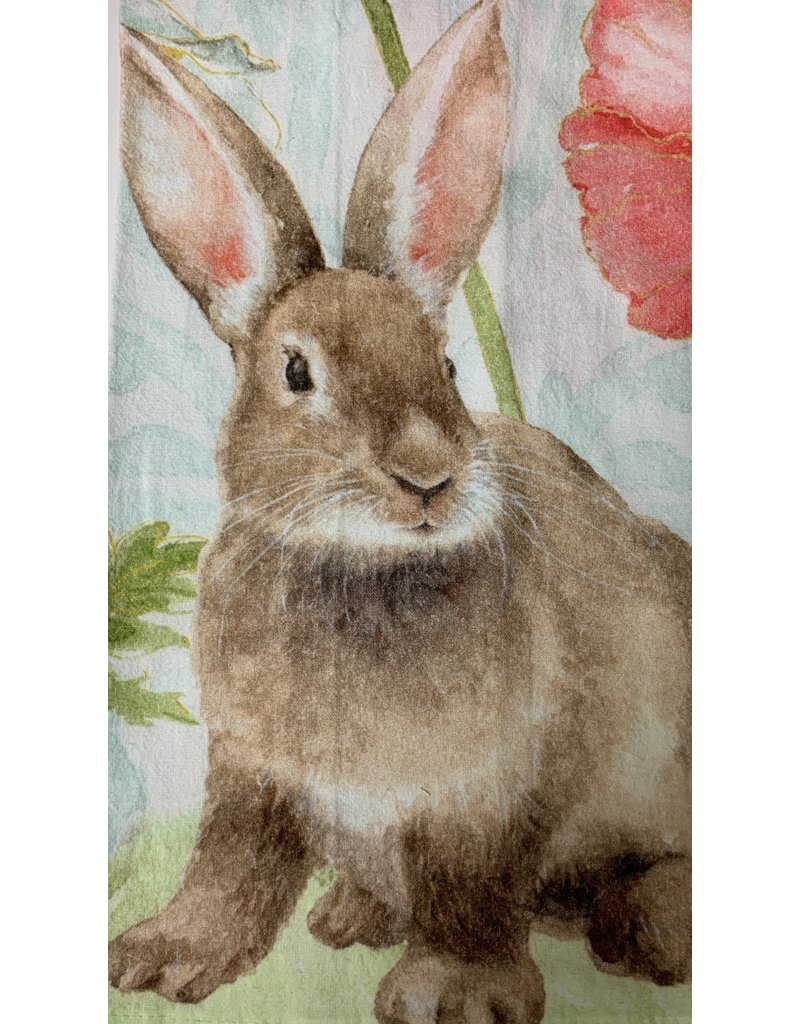 C and F Home Easter Towel, Sitting Bunny,