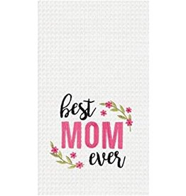 C and F Home Mothers Day Towel, Best Mom Ever