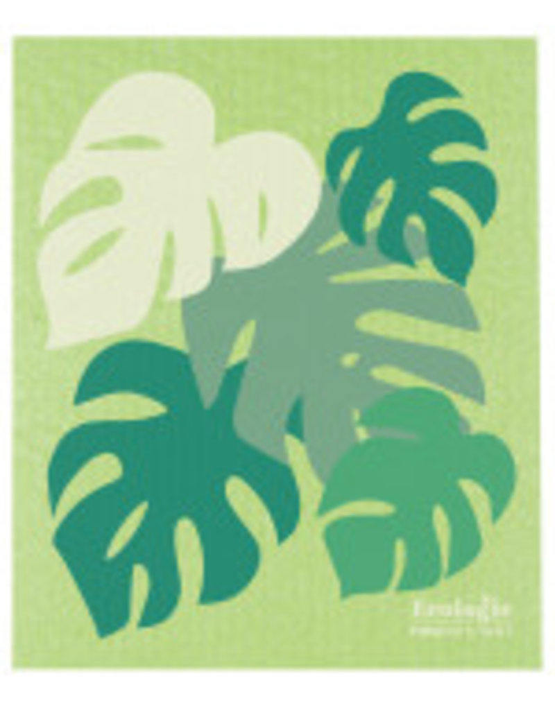 Now Designs Swedish Dish Tropical Leaves Monstera now