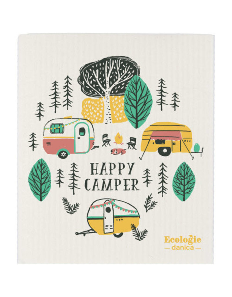 Now Designs Swedish Dish Happy Camper now
