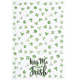 C and F Home St Paddys Day Towel,  Kiss Me I'm Irish