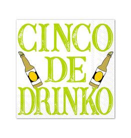 Boston International Cocktail Napkin, Cinco de Drinko disc