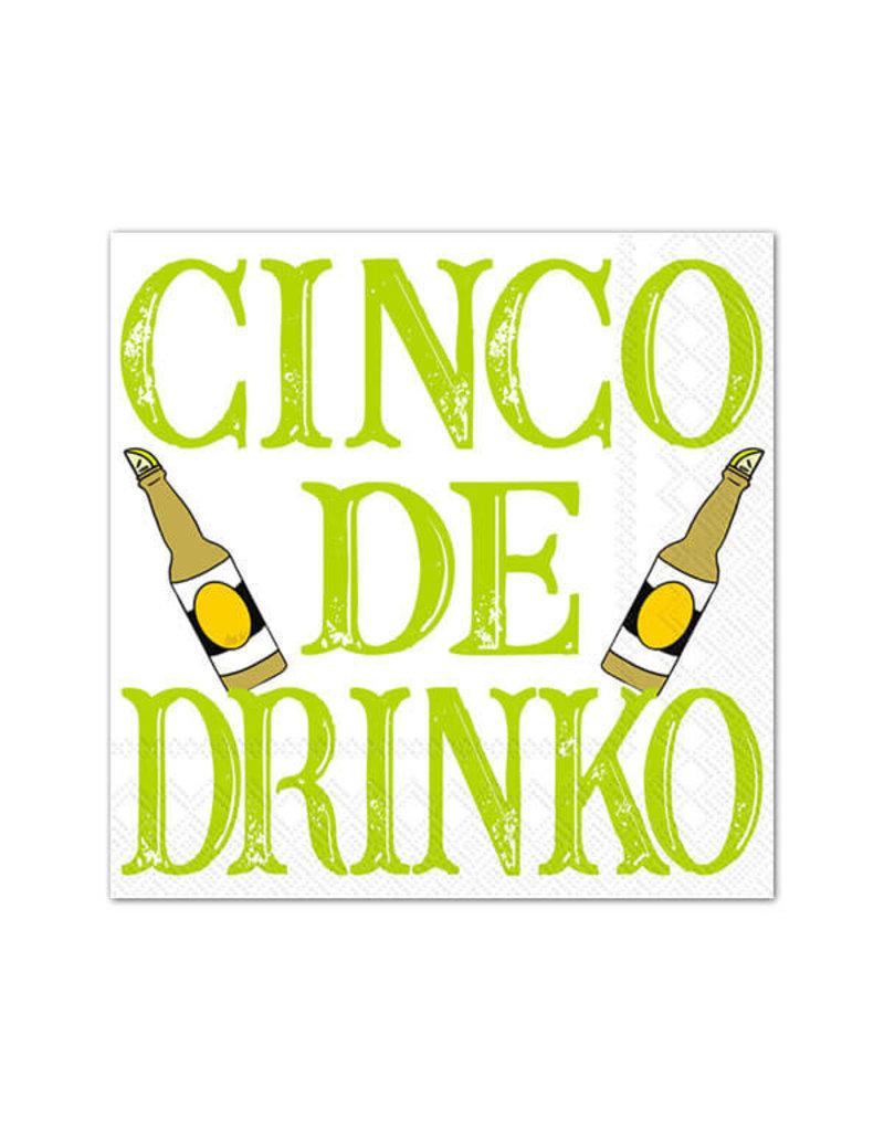 Boston International Cocktail Napkin, Cinco de Drinko