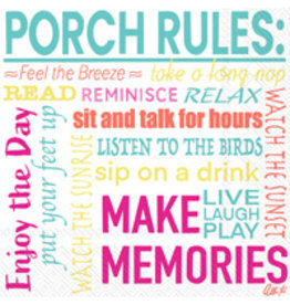 Boston International Cocktail Napkin, Porch Rules