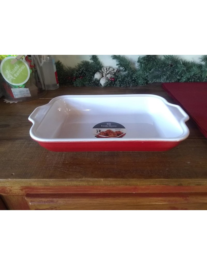Emile Henry EH Rectangular Baking Lasagna Dish 13x9, Red DISC **FREE ONLINE SHIPPING**