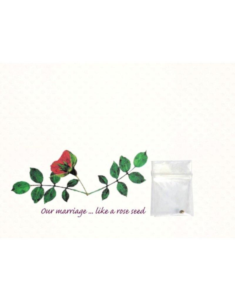 Greeting Card, Anniversary, Rose DISC