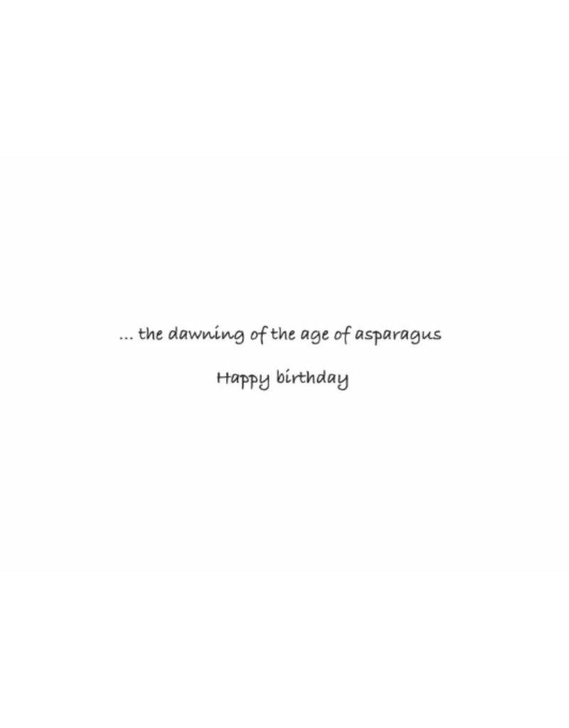 Greeting Card, Birthday, Asparagus