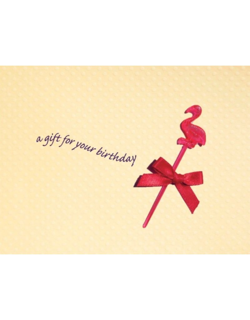 Greeting Card, Birthday, Flamingo