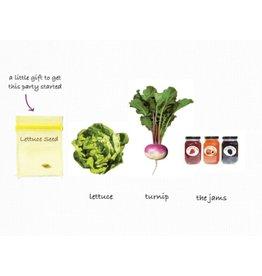 Greeting Card, Birthday, Lettuce