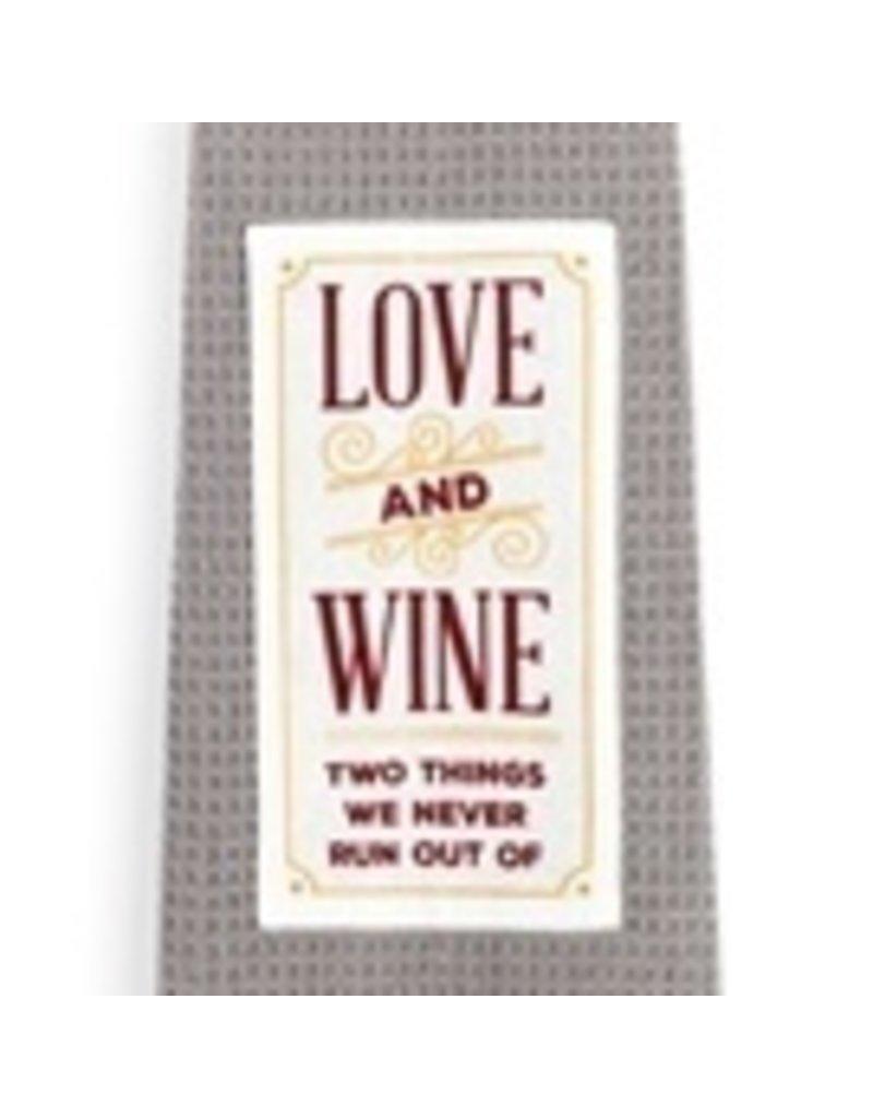Demdaco Kitchen Boa -Love and Wine