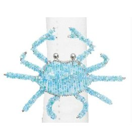 C and F Home Napkin Ring, Blue Crab Beaded