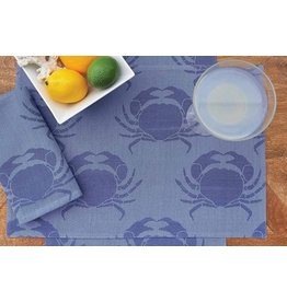C and F Home Placemat, Blue Star Crab Rectangular