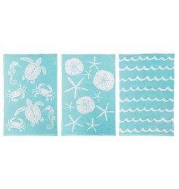 C and F Home Towels Aqua Sea Life, Set of 3