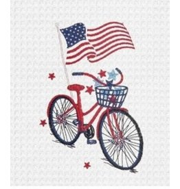 C and F Home Patriotic Towel Bike