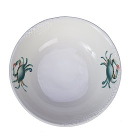 "Beachcombers Blue Crab Round Bowl, 10"""