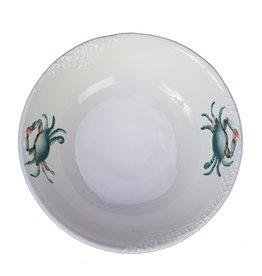 "Blue Crab Round Bowl, 10"""