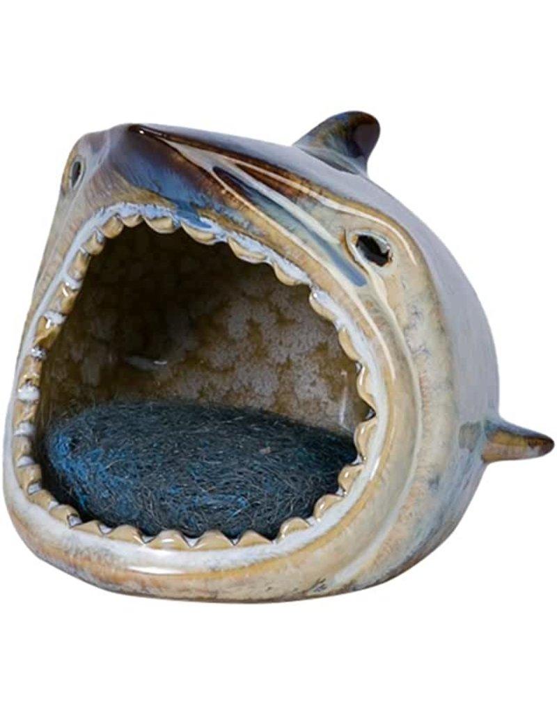 Beachcombers Ceramic Shark Sponge Holder