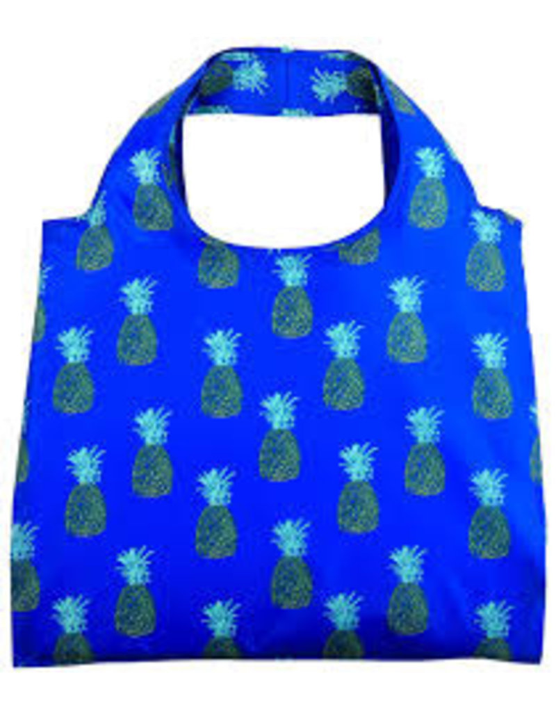 enVbags Reusable Bag with Zipper Pouch - Pineapples disc