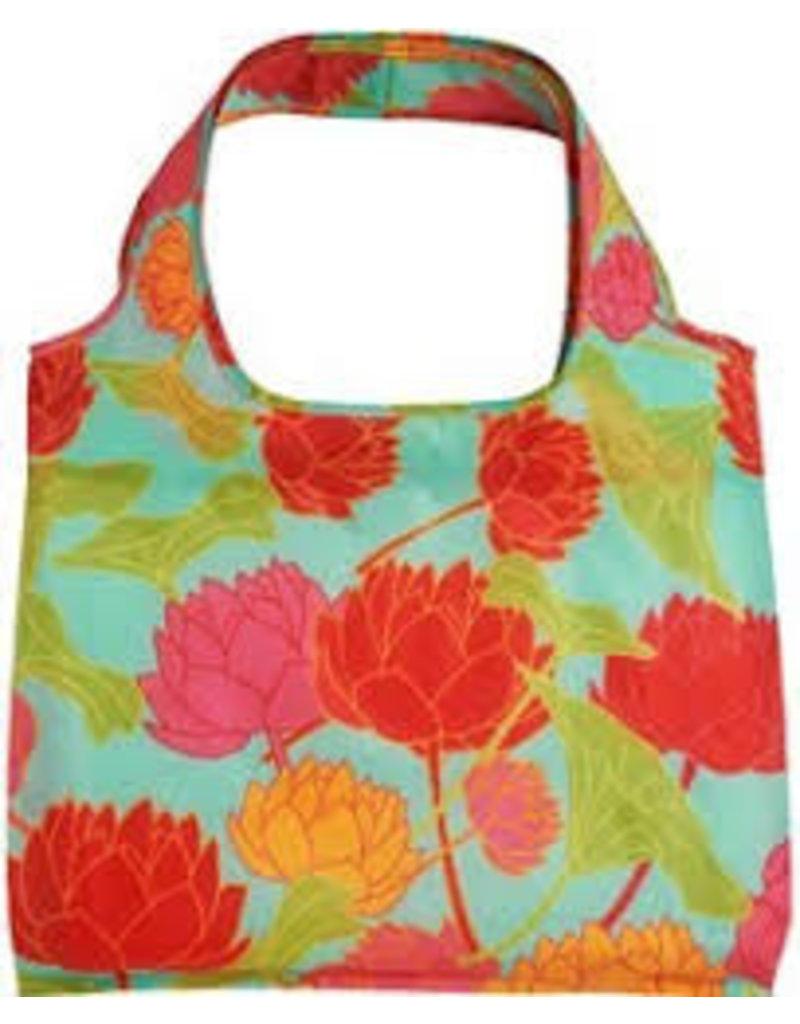 enVbags Reusable Bag with Zipper Pouch - Lotus Flower disc