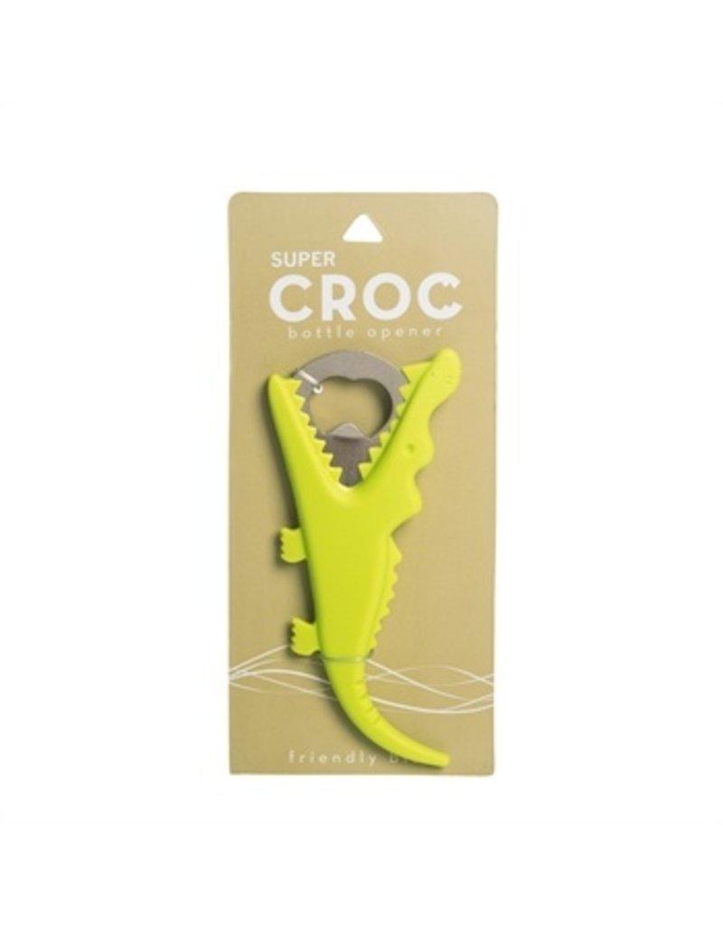 Beachcombers Bottle Opener, Green Gator
