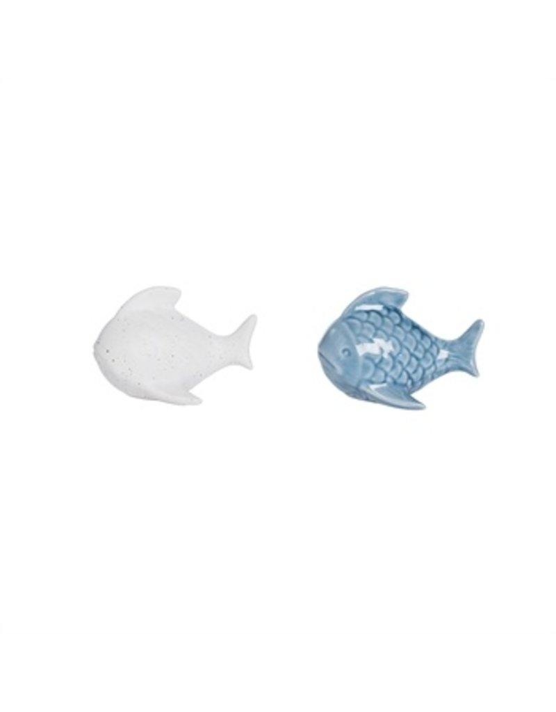 Blue & Bisque Fish Salt and Pepper Set