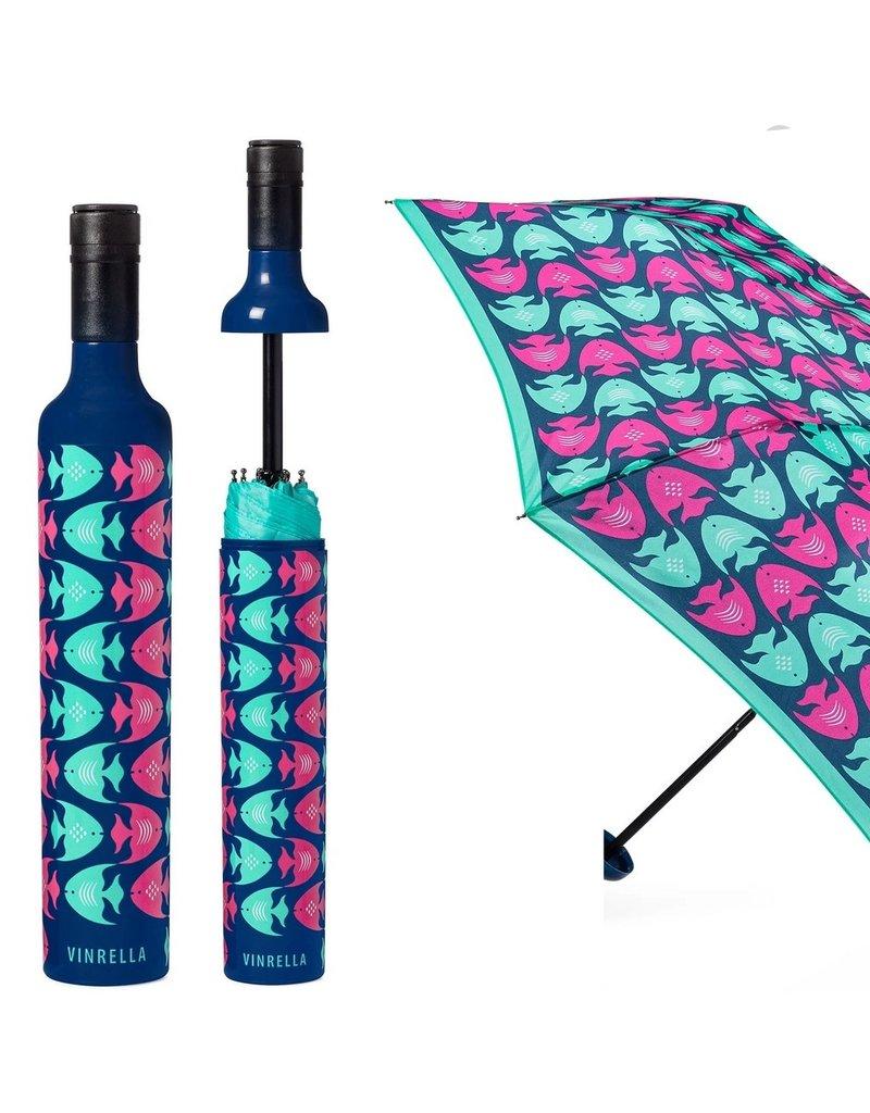 Vinrella Wine Bottle Umbrella - School Mates Fish