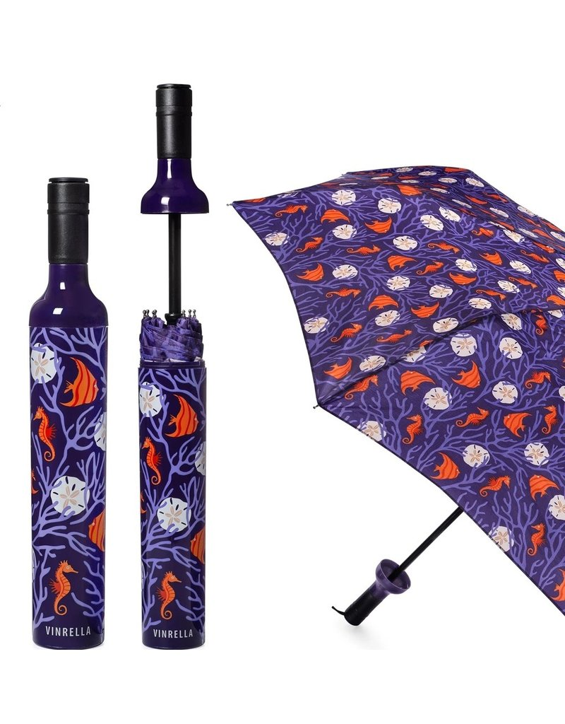 Vinrella Wine Bottle Umbrella - Coral Reef