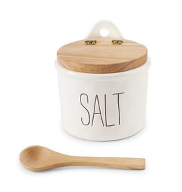 Mudpie Salt Cellar and Spoon Set