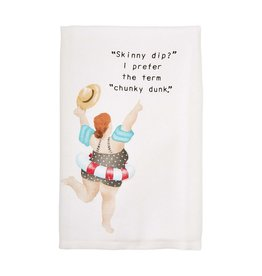 Mudpie Pool Lady Dish Towel, Chunky Dunk
