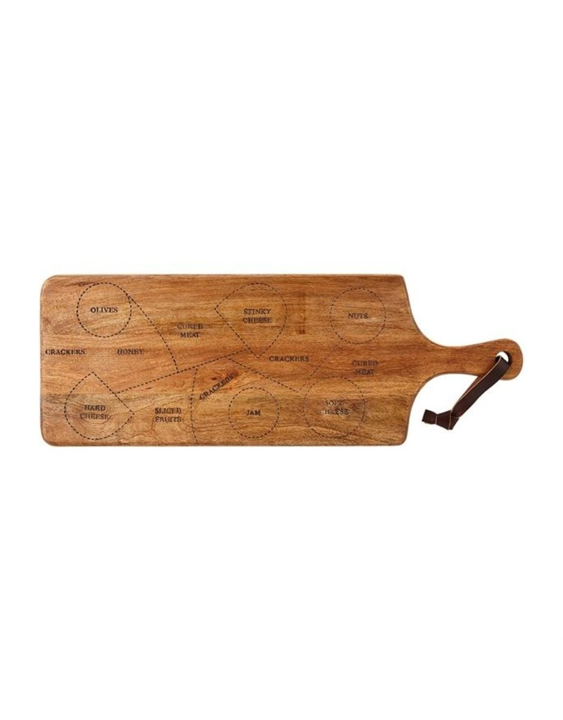 Mudpie Charcuterie Board with Guide, 10x28