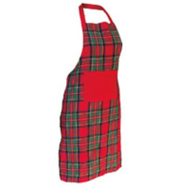 Boston International Holiday Tartan Plaid Apron