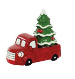 Boston International Holiday Red Truck & Xmas Tree Salt & Pepper Set