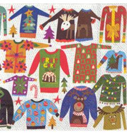 Boston International Holiday Cocktail Napkins, Ugly Christmas Sweater, 20x