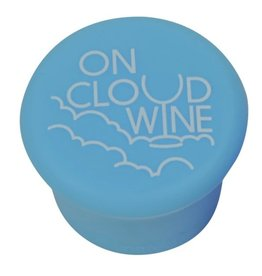Capabunga Leak-Proof Wine Cap, Lt Blue Cloud Wine disc