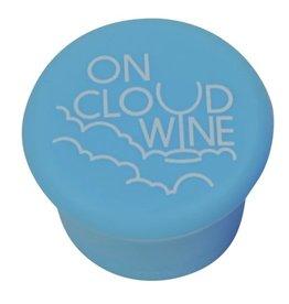 Capabunga Leak-Proof Wine Cap, Lt Blue Cloud Wine