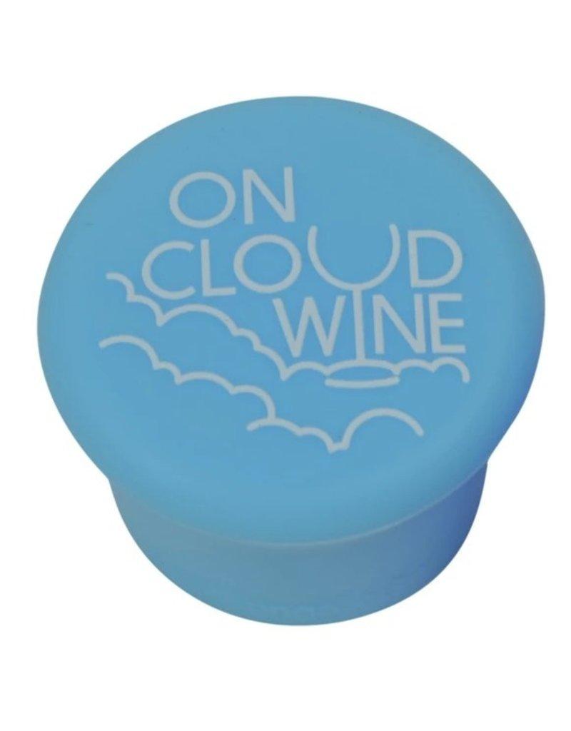 Capabunga Leak-Proof Wine Cap, Lt Blue Cloud Wine disc