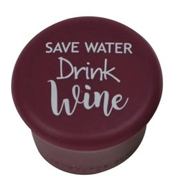 Capabunga Leak-Proof Wine Cap, Burgundy Save Water Drink Wine disc
