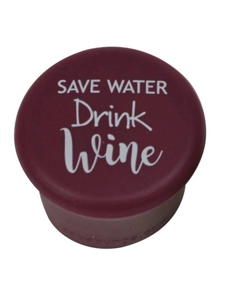 Capabunga Leak-Proof Wine Cap, Burgundy Save Water Drink Wine disc