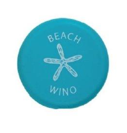Capabunga Leak-Proof Wine Cap, Aqua Beach Wino disc