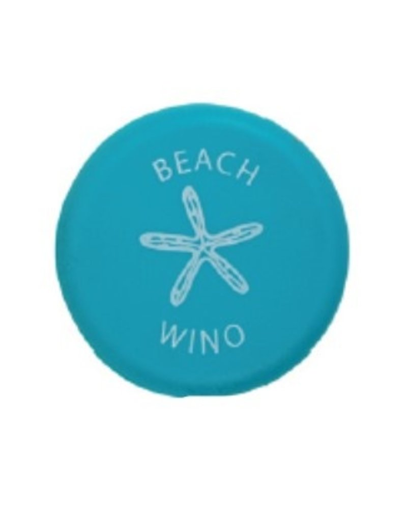 Capabunga Leak-Proof Wine Cap, Aqua Beach Wino