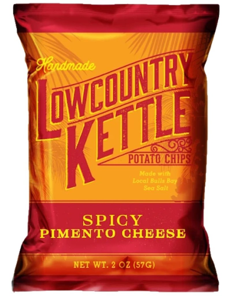 Lowcountry Kettle Potato Chips, Spicy Pimento Cheese, 2oz