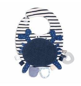 Demdaco Baby Activity Bib - Blue Crab