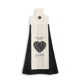 Demdaco Button Loop Towel, Seasoned With Love